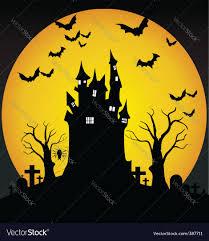 halloween scene royalty free vector image vectorstock