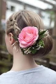 flower hair bun wedding hair with flowers lovehair