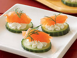 cucumber canapes northwest salmon canapés recipe myrecipes