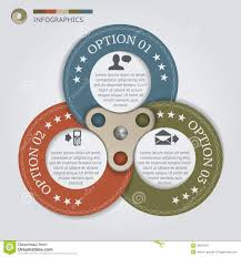 Promotion Color Business Color Circles With 3 Steps Royalty Free Stock Photography