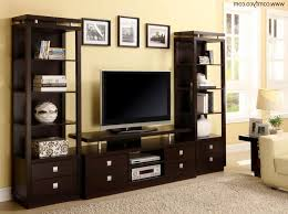 Dark Wooden Tv Stands Living Room Nice Dark Brown Tv Stands Decoraion Ideas With