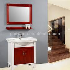 Solid Oak Bathroom Vanity Unit Modern Latest 80cm Oak Solid Wood Bathroom Cabinet Floor Mounted