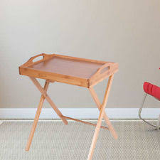 Folding Tray Table Set Wood Tv Trays Ebay
