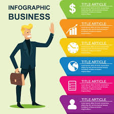 business infographic template vector free