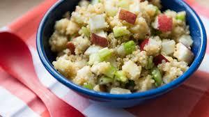 cuisine quinoa salade de quinoa pommes et gouda cuisine futée parents pressés