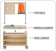 move upp modular mirror u0026 whiteboard attachment for base cabinets