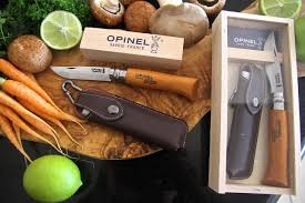chic homewares opinel no 8 carbon beech handle with pouch and