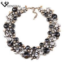 aliexpress crystal necklace images Europe usa big fashion women necklaces vintage crystal glass bib jpg