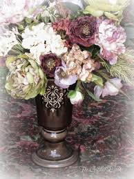 Faux Peonies Faux Rose And Peony Floral Arrangements The Gilded Bloom