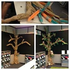 this is my classroom 3d tree i used pool noodles and duct to