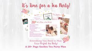garden tea party plan u2022 confetti party plans