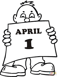 little boy with april fool u0027s day greetings coloring page free