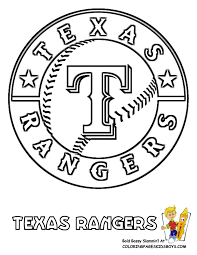 13 texas rangers baseball coloring at coloring pages book for kids