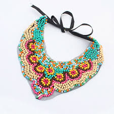 colored bead necklace images Valentine 39 s day gift necklace wholesale colored beads multi strand jpg