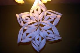 sitting at our kitchen table 3d paper snowflake