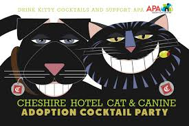the cheshire cat u0026 canine adoption cocktail party apa