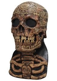 Aztec Halloween Costume Aztec Skull Ancient Latex Halloween Costume Scary Horror