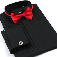tuxedo shirt for men white black pink s 4xl plus size wedding