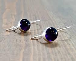 amethyst earrings purple amethyst earrings bloomingoak design