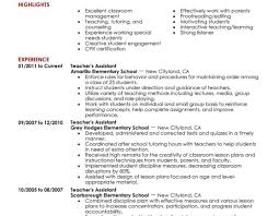 Sample Resume For Bilingual Teacher by Resume Teacher Assistant Resume Favored Computer Teacher