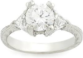 trillion engagement ring tacori trillion cut engagement ring 10945