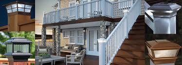solar deck u0026 fence post cap lights or 6x6 wood post