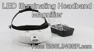 small magnifier with light led lighted headband magnifier hands free magnification with 5