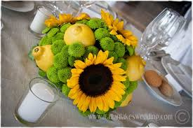 Sunflower Wedding Decorations Wedding Centerpieces With Sunflowers The Wedding Specialiststhe