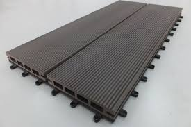 waterproof wpc composite woodgrain decking boards for park garden