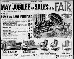 Metal Porch Glider Bunting Metal Porch Glider Newspaper Advertisement From April 30