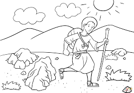 jacob en route to haran coloring page free printable coloring pages