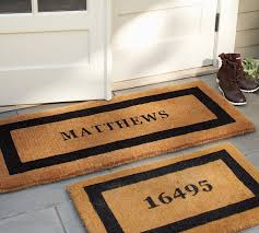 Personalized Business Rugs Personalized Doormat Pottery Barn