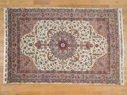 Silk Oriental Rugs 6 U00275 U0027 U0027x9 U00277 U0027 U0027 Hand Knotted Signed Persian Tabriz 600 Kpsi Silk