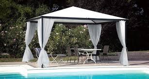aluminum gazebo fabric roof commercial smart unosider