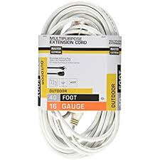 25 ft white extension cord with 3 electrical power outlet 16 3