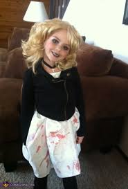 Chucky Bride Halloween Costumes Homemade Bride Chucky Costume Girls Photo 2 5
