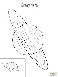 saturn planet coloring page free printable coloring pages