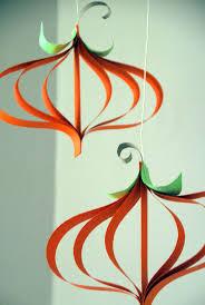 diy craft paper pumpkin ornaments construction paper crafts