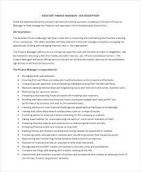 Assistant Manager Resume Examples Sample Director Of Marketing Job Description 9 Examples In
