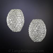 diamond earrings 2 80 carat pavé diamond earrings