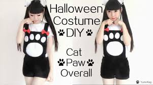 cat costume for halloween easy halloween costume diy cat paw overall costume inspired by