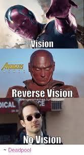 Avengers Meme - vision reverse vision avengers memestumblrcom ical no vision