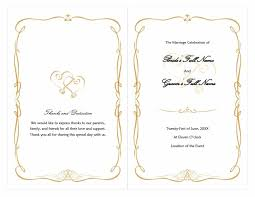 wedding ceremony bulletin 40 free event program templates designs template archive