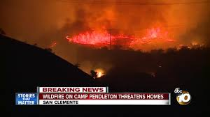 Wildfire Williams Arizona by Wildfire On Camp Pendleton Threatening Homes Youtube
