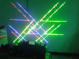 Lazer Light Forest Dmx512 Green Yellow Blue Red Four Colors Lazer Light Show