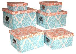 Decorative Paper Storage Boxes With Lids Decorative Storage Bins With Lid Storage Decorations