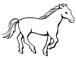 coloring sheets of a horse coloring pages horse coloring pages horse simple horse coloring