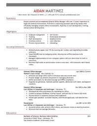 Resume Examples Administration by Best Administrative General Manager Resume Example Livecareer