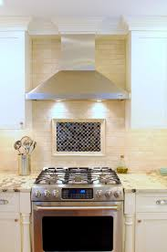 kitchen range backsplash kitchen classy kitchen decoration using light brown porcelain