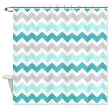 Gray Chevron Shower Curtain Buy Cafepress Blue Grey Chevron Pattern Shower Curtain Standard